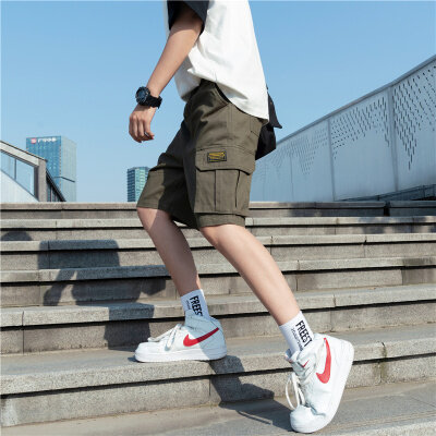 日系风 夏季工装纯色男士潮流军绿休闲裤难 1602 156 P35