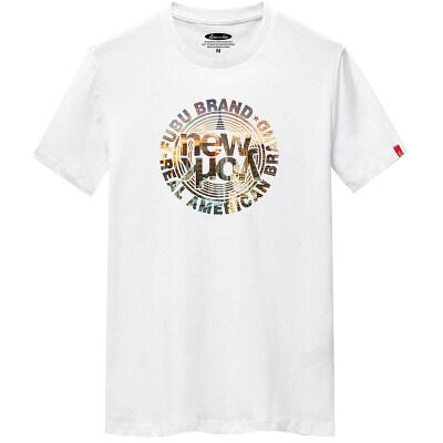 白底 夏季男士锯齿印花短袖T恤港风白色潮牌上衣1602 G6016 P20