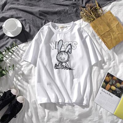 短袖t恤男士夏2021新款大码打底衫白色情侣装体恤半袖上衣潮牌P20