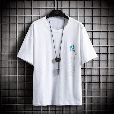 72228-P35t恤男士短袖纯棉潮牌宽松2020新款夏季韩版潮流半袖