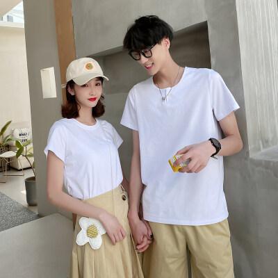 2021夏季新款情侣装男T恤短裤套装女T恤裙子617C-809P70男55