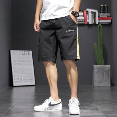 20夏季日系大码休闲潮流运动撞色工装沙滩短裤卫五分裤K1026-P20