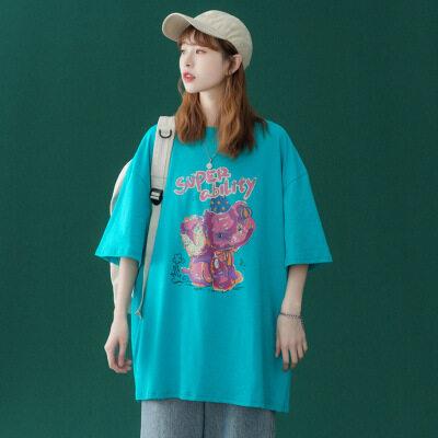 2021夏季新款短袖t恤女潮流上衣 D021 P25