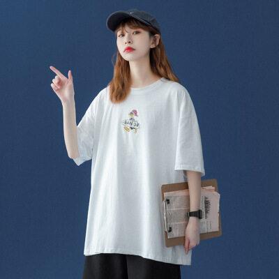 2021夏季新款短袖t恤女宽松上衣 D022 P30