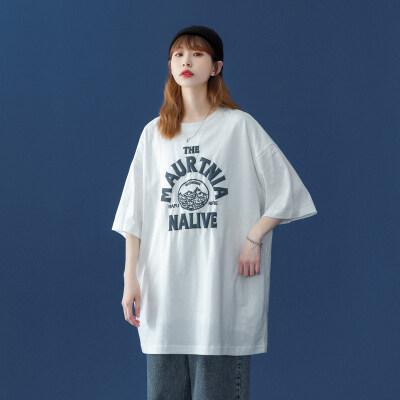 爆款T恤!中性风 夏装新款宽松字母发泡港风情侣装短袖女ZM90-P30