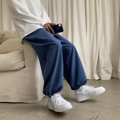 图片已测2021春夏新款九分裤宽松棉麻港风日系束脚裤411-5K16-P40