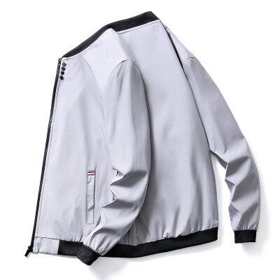 潮牌立领夹克外套男2021春季新款男装帅气青年拉链休闲服H601-P30