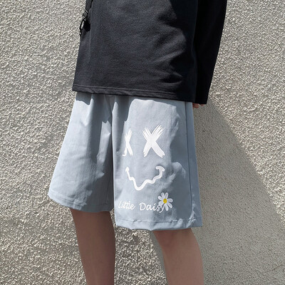 潮流夏款薄款裤港风韩版ins原宿风阔腿五分裤XZ201-2 K27 P25