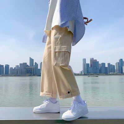 2021年新款男休闲裤工装裤长裤阔腿裤宽松青少年裤子K306P30