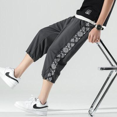 无影墙   K806-P25   95%聚酯纤维5%氨纶   夏季新款休闲七分裤男