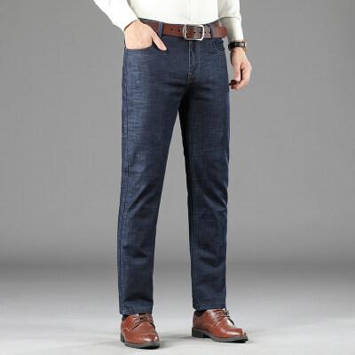 2021夏季新款商务休闲男士弹力长裤时尚牛仔裤直筒爸爸装B23P68
