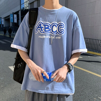 夏季新款短袖t恤男潮流半袖体恤衫上衣 D020 P28