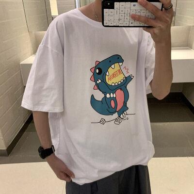 夏季新款潮流卡通短袖t恤男五分袖学生上衣服 D023 P25