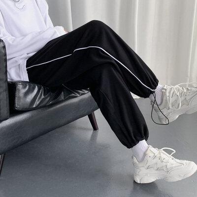 21春装中性风男女大码潮流宽松卫裤抽绳束脚运动休闲裤K2021-P38