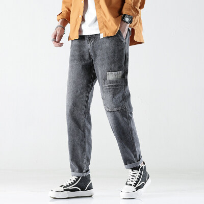 B328/003/P85 2021新款日系春夏宽松灰色流行免烫水洗休闲哈伦裤