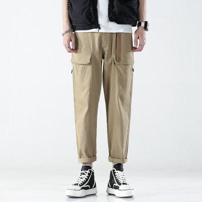 B328/205/P92 21新款日系春夏男士宽松工装休闲裤