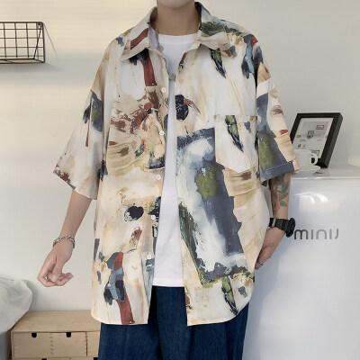 男士短袖衬衣休闲衬衫宽松C213P30