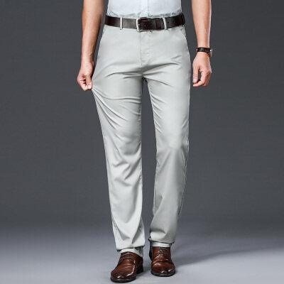 DKH8080B夏秋竹纤维薄款高腰宽松直筒休闲裤商务休闲直筒男裤P68