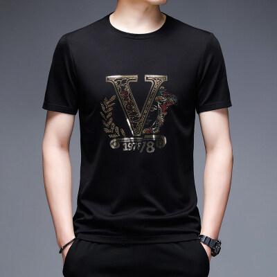2021夏季新款男短袖体恤商务休闲丝光棉圆领T恤A020P70