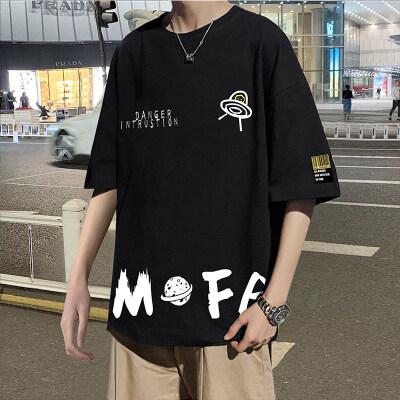 21夏装日系港风外景ins宇宙男女大码短袖T恤控35B209-T24P25