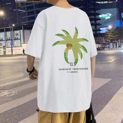 B209-T08P25港风外景大码ins潮流圆领多色短袖学生休闲T恤
