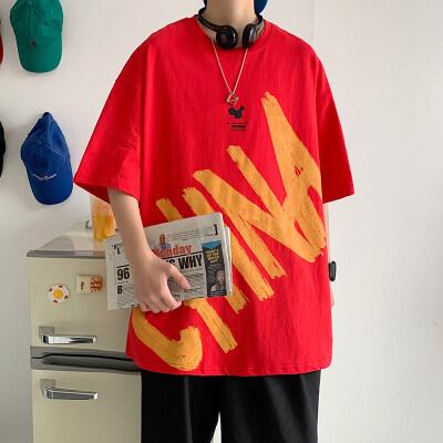 男士t恤流行短袖半袖印花中国风T恤T017P25