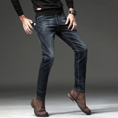 711-4牛仔裤男士修身小脚裤男休闲韩版潮青年男显瘦长裤子