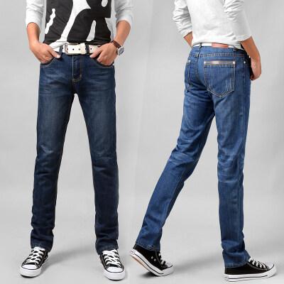 主推2000 商务牛仔裤 深蓝  浅蓝