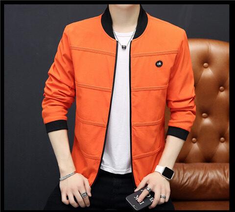 秋季新款青年OK字母夹克男士韩版修身外套潮流帅气春秋薄款外衣