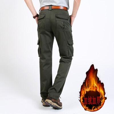 加绒加厚棉裤速卖通亚马逊跨境货源多袋工装裤男装宽松户外大码裤