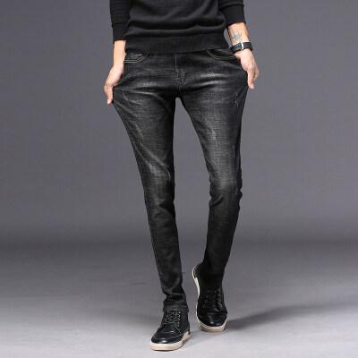 主推时尚轻奢 牛仔长裤 848 黑色