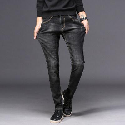 主推时尚轻奢 牛仔长裤 851 黑色