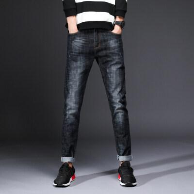 新款男士弹力长裤 韩版修身弹力小脚裤青年时尚潮裤牛仔裤