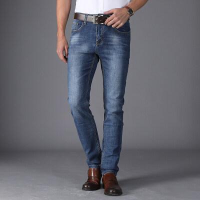2018年春夏新款 商务牛仔裤 601 浅蓝 4套图