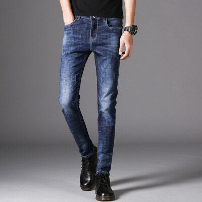 新款牛仔裤青年弹力修身小脚牛仔裤男式时尚潮1831