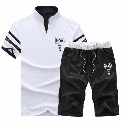 夏季短袖短裤运动休闲套装男