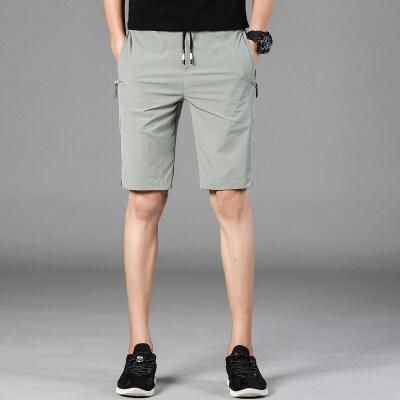 休闲五分裤9108 速干裤 黑色 浅绿 灰色 2套图(灰底图/室外图)