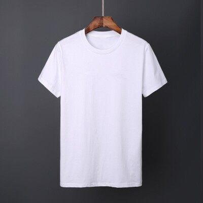 主推款货源充足夏季男式运动T恤冰瓷棉纯色t恤纯棉短袖圆领t恤