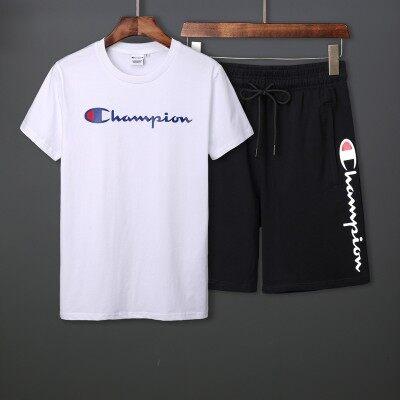 夏季短袖套装青少年学生短袖短裤套装男士潮流时尚冠军日系高品质