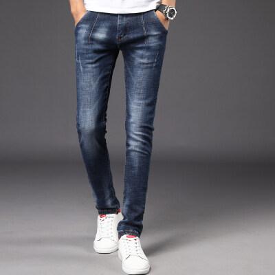 时尚轻奢牛仔长裤829 蓝色 黑色