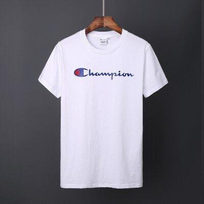 夏季新款短袖T恤潮牌时尚冠军男青少年学生体恤个性男女