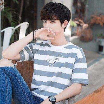 旭阳529B  2018新款条纹青少年短袖T恤