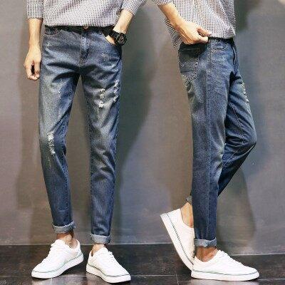 青年牛仔长裤