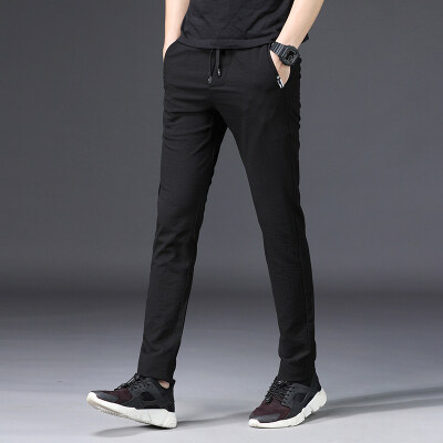 休闲裤1705 黑色 浅绿