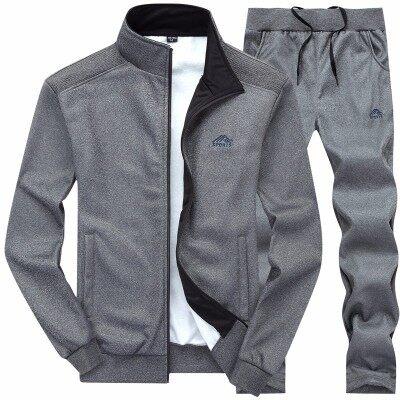 秋季中老年运动套装男长袖外套3688