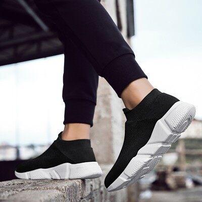 男鞋网鞋网面透气夏季运动休闲男士夏天袜子鞋一脚蹬懒人潮鞋子男