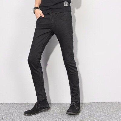 经典黑色小脚裤