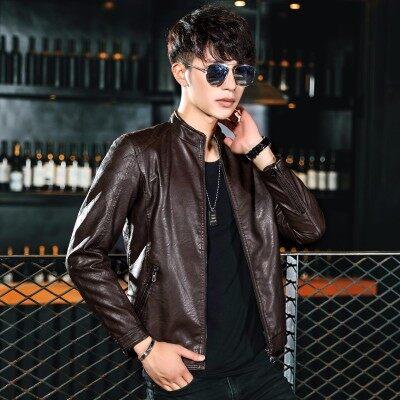 宾仕格调厂家直销秋冬新款皮衣男式夹克韩版修身款青年PU皮休闲