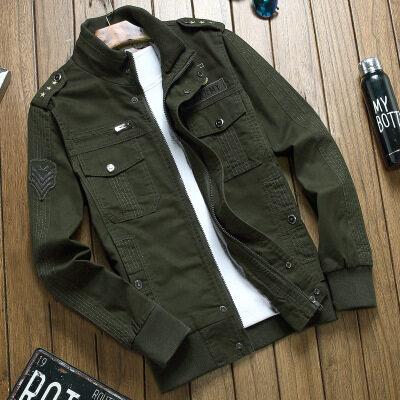M-6X【有加绒】空军一号棉水洗夹克男特种兵工装大码军装外套