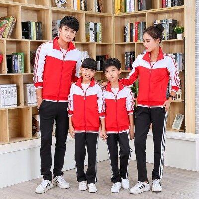 南韩丝春秋情侣运动套装男女团体服套装亲子装